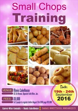 Small Chops Training in Jos